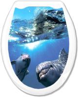 Сиденье для унитаза Europlast Дельфины 104-406-00 (жесткое) -