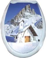 Сиденье для унитаза Europlast Домик в горах 104-406-00 (жесткое) -