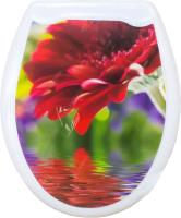 Сиденье для унитаза Europlast Красная гербера 104-406-00 (жесткое) -