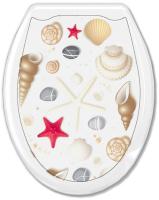 Сиденье для унитаза Europlast Ракушка на белом 104-406-00 (жесткое) -