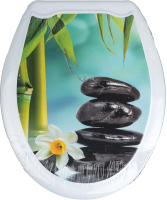 Сиденье для унитаза Europlast Три камня 104-406-00 (жесткое) -