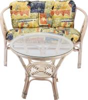 Комплект садовой мебели Мир Ротанга Багама 01/17 стол, диван (белый) -