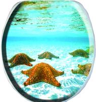 Сиденье для унитаза Europlast Океан. Морские звезды 103-311-01В14 (мягкое) -