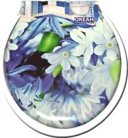 Сиденье для унитаза Europlast Цветы 103-311-01В29 (мягкое) -