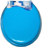 Сиденье для унитаза Europlast 103-312-02 (мягкое, голубое) -