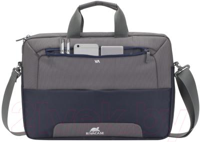 Сумка для ноутбука Rivacase 7737 (стальной синий/серый)