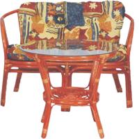 Комплект садовой мебели Мир Ротанга Багама 01/17 стол, диван (коньяк) -