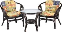 Комплект садовой мебели Мир Ротанга Багама 01/17 стол, два кресла (шоколад) -
