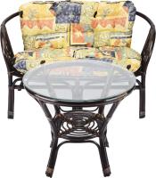 Комплект садовой мебели Мир Ротанга Багама 01/17 стол, диван (шоколад) -