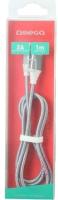 Кабель Omega Type-C-USB USB3.0 / OUFBB3TYPECBOXGR (1м, серый) -