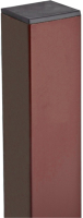 Столб для 3D панелей Lihtar 2м 60х40мм Оц+ПП (коричневый) -