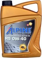 Моторное масло ALPINE RS 0W40 / 0100228 (4л) -