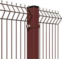 3D панель заборная Lihtar 1530х2500мм 3/4мм 200/50 Оц+ПП (коричневый) -