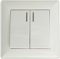 Выключатель КС Дабрабыт СП 10А с индикатором / 74867 (белый) -