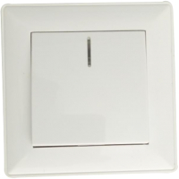 Выключатель КС Дабрабыт СП 10А с индикатором / 74864 (белый) -