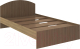 Полуторная кровать Rinner Веста 120x200 (шимо темный) -