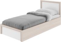 Односпальная кровать Rinner Остин М22 с ПМ 90x200 (ясень шимо светлый/белый поры дерева) -