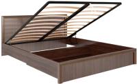 Двуспальная кровать Rinner Беатрис М08 с ПМ 160x200 (орех гепланкт) -