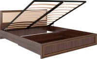 Двуспальная кровать Rinner Беатрис М11 с ПМ 160x200 (орех гепланкт) -
