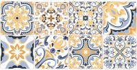 Декоративная плитка Нефрит-Керамика Лорена / 00-00-5-08-30-61-1484 (400x200, голубой) -