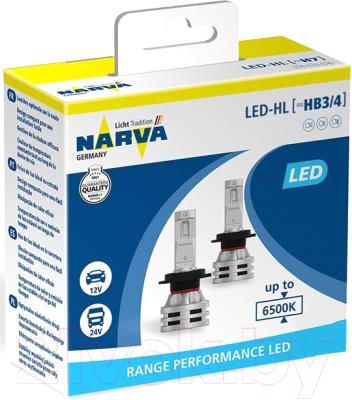 Комплект автомобильных ламп Narva 18038