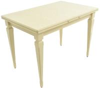 Обеденный стол Аврора Греция 1200 110x70x77 (тон 10/слоновая кость) -