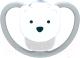Пустышка NUK Space Ортодонтической формы / 10730269 (белый мишка, силикон, р.1) -