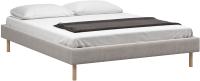 Полуторная кровать Woodcraft Лачи 140 вариант 8 (светлый лак/искусственная шерсть/топленое молоко) -