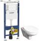 Унитаз подвесной с инсталляцией Geberit Duofix Plattenbau 458.122.11.1 + Mateo 73462 + ZRU9302822 -