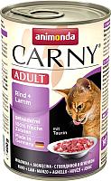 Корм для кошек Animonda Carny Adult с говядиной и ягненком (400г) -