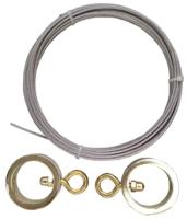 Карниз для штор Gardinia Ринг 190 (металл/золото) -