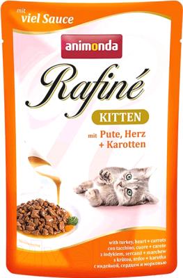 Корм для кошек, 12 шт. Animonda Rafine Soupe Kitten с мясом индейки, сердцем и морковью