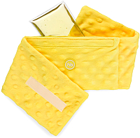 Гелевая грелка Happy Baby 21009 анти-коликовая с чехлом (желтый) -