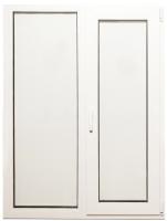 Окно ПВХ Добрае акенца Двухстворчатое с поворотно-откидной створкой 3 стекла (1400x1000) -