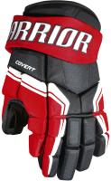 Перчатки хоккейные Warrior QRE3 / Q3G-BRW10 (черный/белый/красный) -