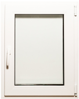 Окно ПВХ Добрае акенца Поворотно-откидное 2 стекла (800x600) -