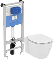 Унитаз подвесной с инсталляцией Ideal Standard Connect Aquablade E047901 + E772401+ R020467 / E211601 -