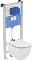 Унитаз подвесной с инсталляцией Ideal Standard Tesi Aquablade T007901 + T352701 + R020467 / T386801 -