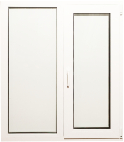 Окно ПВХ Добрае акенца С глухой и поворотно-откидной створками 2 стекла (1200x1000) -