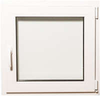 Окно ПВХ Добрае акенца С поворотно-откидной створкой 2 стекла (700x700) -