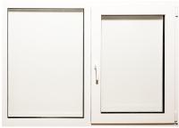 Окно ПВХ Добрае акенца С поворотно-откидной створкой 2 стекла (1000x1400) -
