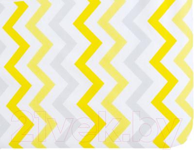 Простыня детская Martoo Comfy / СM160x80-1-YGZ (желтый/серый, зигзаг)