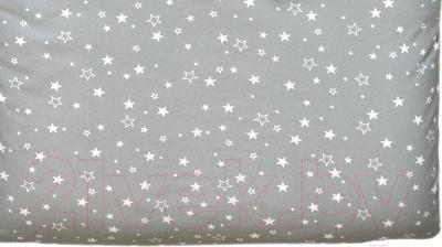 Простыня детская Martoo Comfy / СM160x80-GR-WTST (белые звезды на сером)
