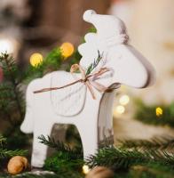 Статуэтка Нашы майстры Рождственская лошадка / 9013 (белый) -