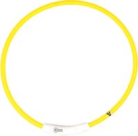 Ошейник Duvo Plus 1270014/DV (нейлоновый, светящийся, желтый) -