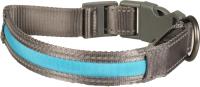 Ошейник Duvo Plus 10644/DV (светящийся, серый/голубой) -