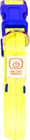 Ошейник Duvo Plus 1270017/DV (нейлоновый, светящийся, желтый) -