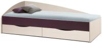 Односпальная кровать Олмеко Фея-3 80x190 (вудлайн кремовый/баклажан) -