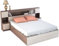 Комплект мебели для спальни Ricco Бася КР552 с прикроватным блоком (шимо темный/шимо светлый) -