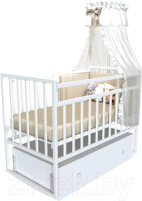 Детская кроватка VDK Magico Mini / Кр1-04м (белый)